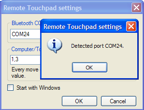 Remote Touchpad settings