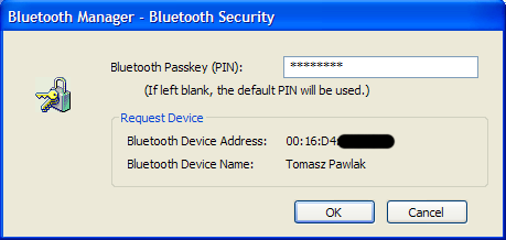 Computer bluetooth manager - pair device
